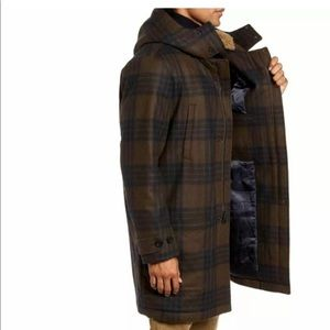 Vince Men's Plaid Duffle Coat size medium new